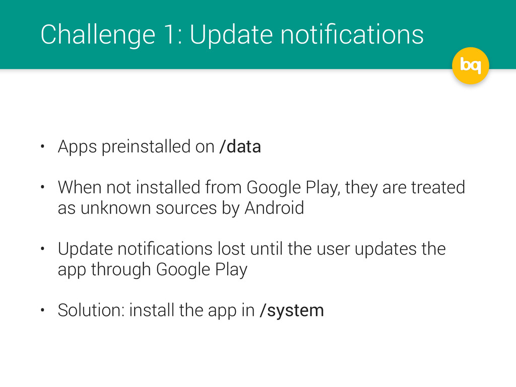 Challenge 1: Update notifications • Apps preinst...