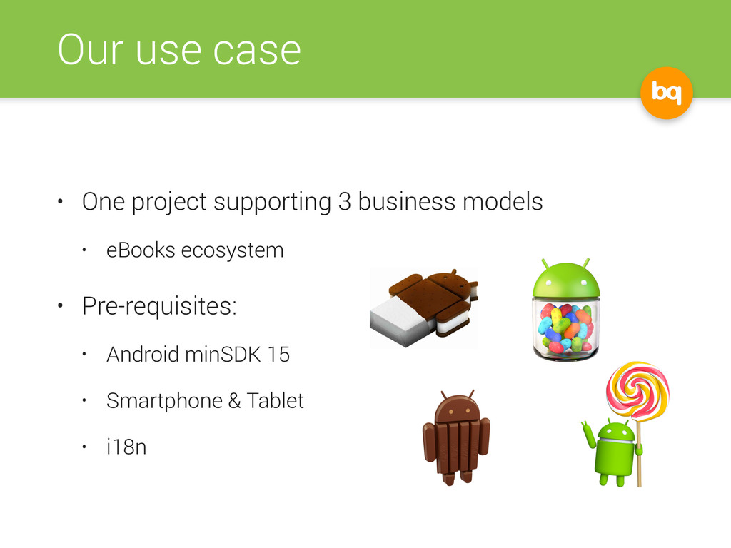 Our use case • One project supporting 3 busines...
