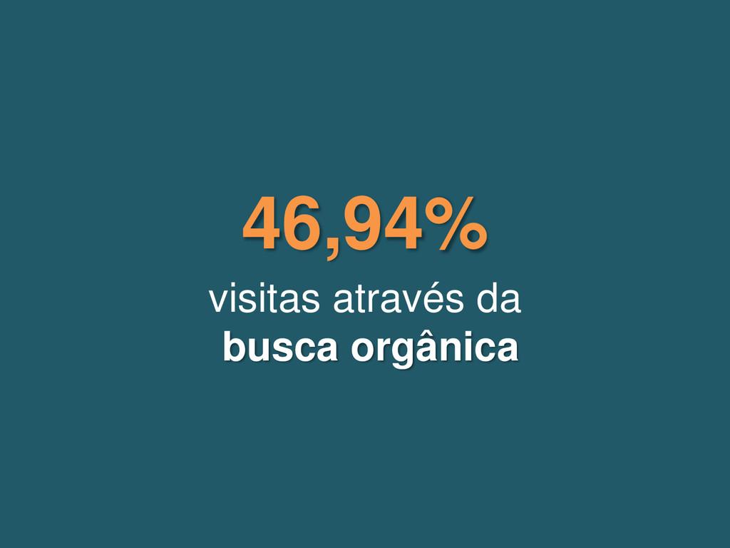 visitas através da busca orgânica 46,94%