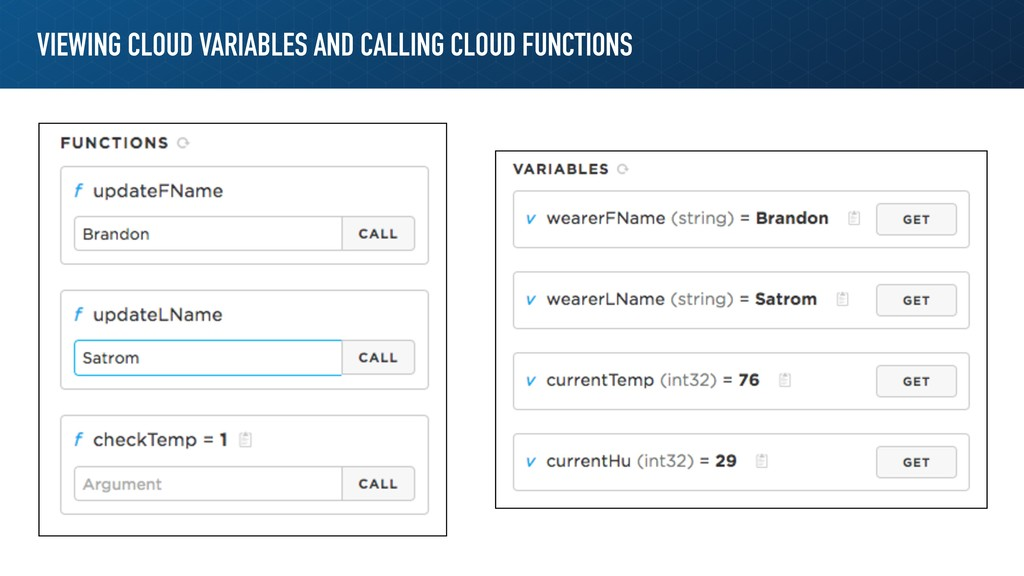 VIEWING CLOUD VARIABLES AND CALLING CLOUD FUNCT...