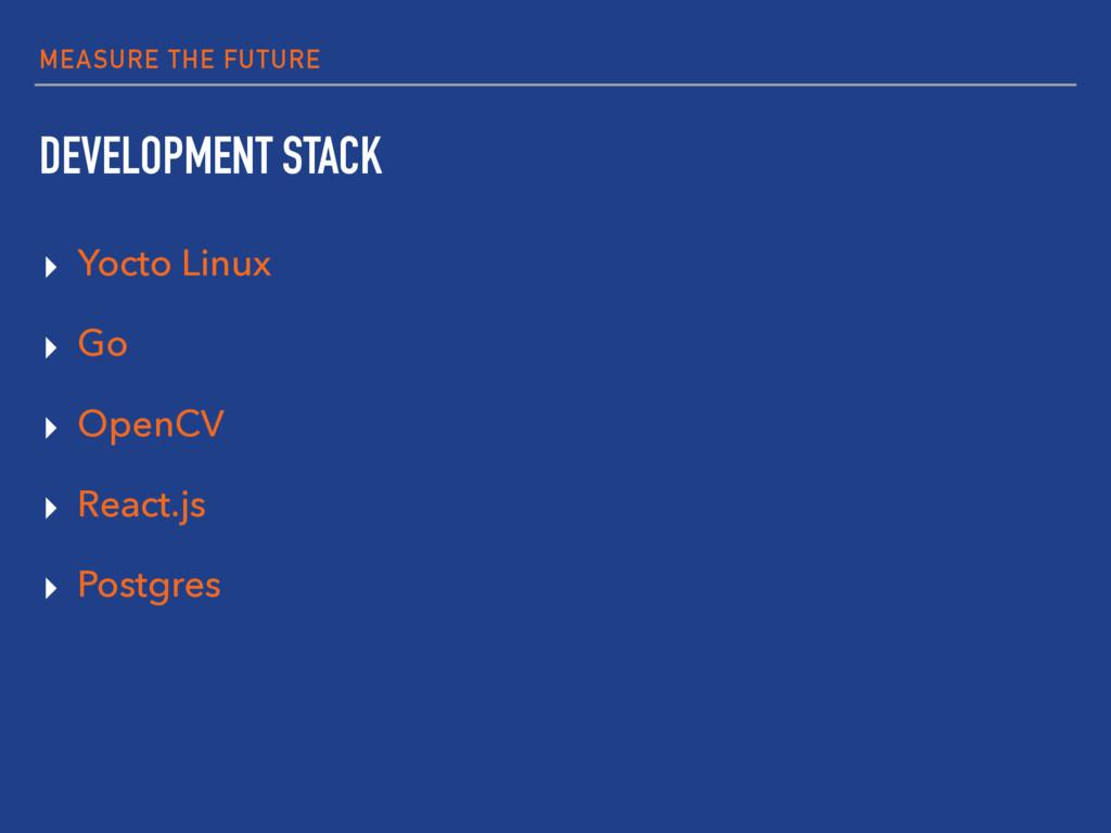 MEASURE THE FUTURE DEVELOPMENT STACK ▸ Yocto Li...