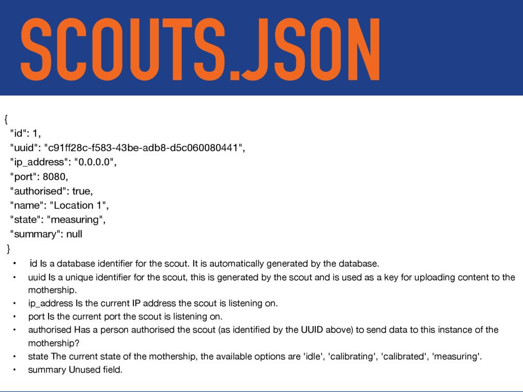 """SCOUTS.JSON {  """"id"""": 1,  """"uuid"""": """"c91ff28c-f583-..."""