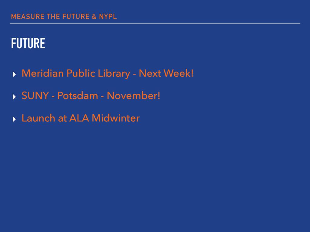 MEASURE THE FUTURE & NYPL FUTURE ▸ Meridian Pub...