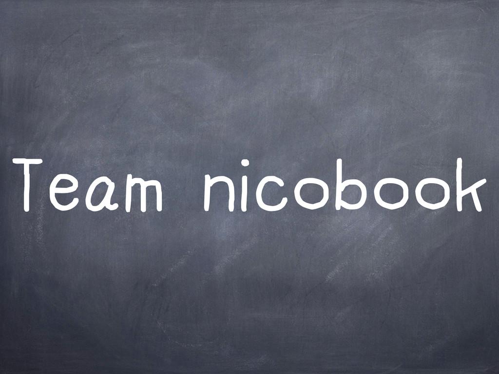 Team nicobook