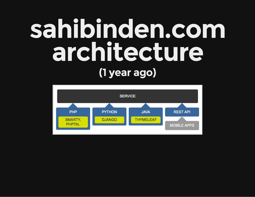 sahibinden.com architecture (1 year ago)