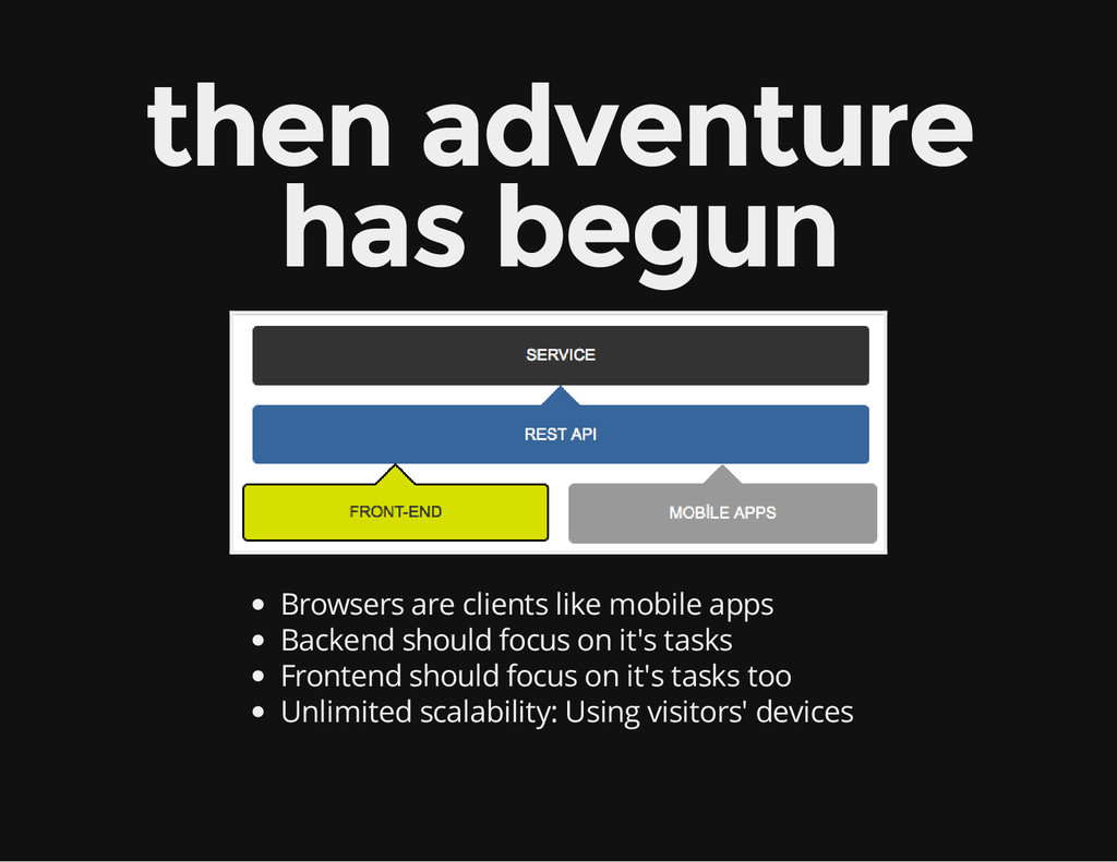 then adventure has begun Browsers are clients l...
