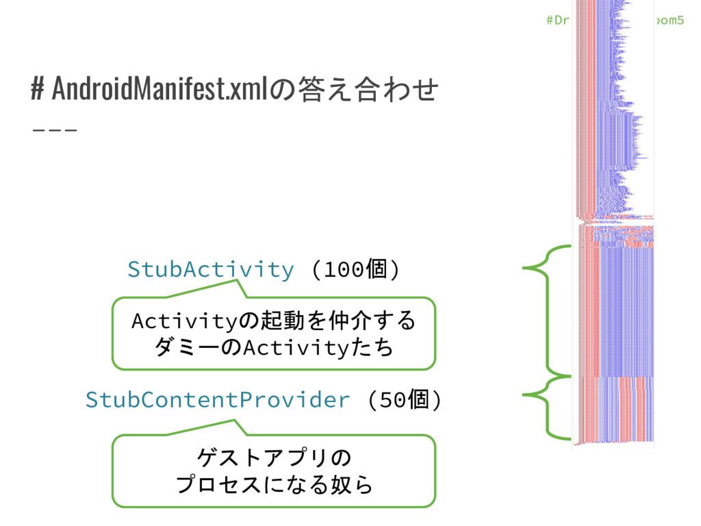 #DroidKaigi_room5 # AndroidManifest.xmlの答え合わせ S...