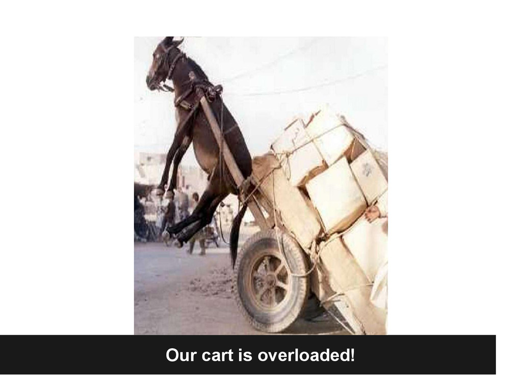 Our cart is overloaded!
