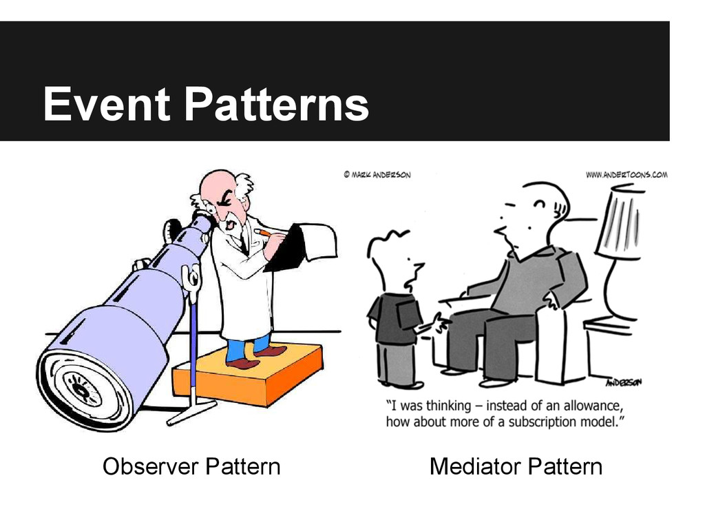 Event Patterns Observer Pattern Mediator Pattern