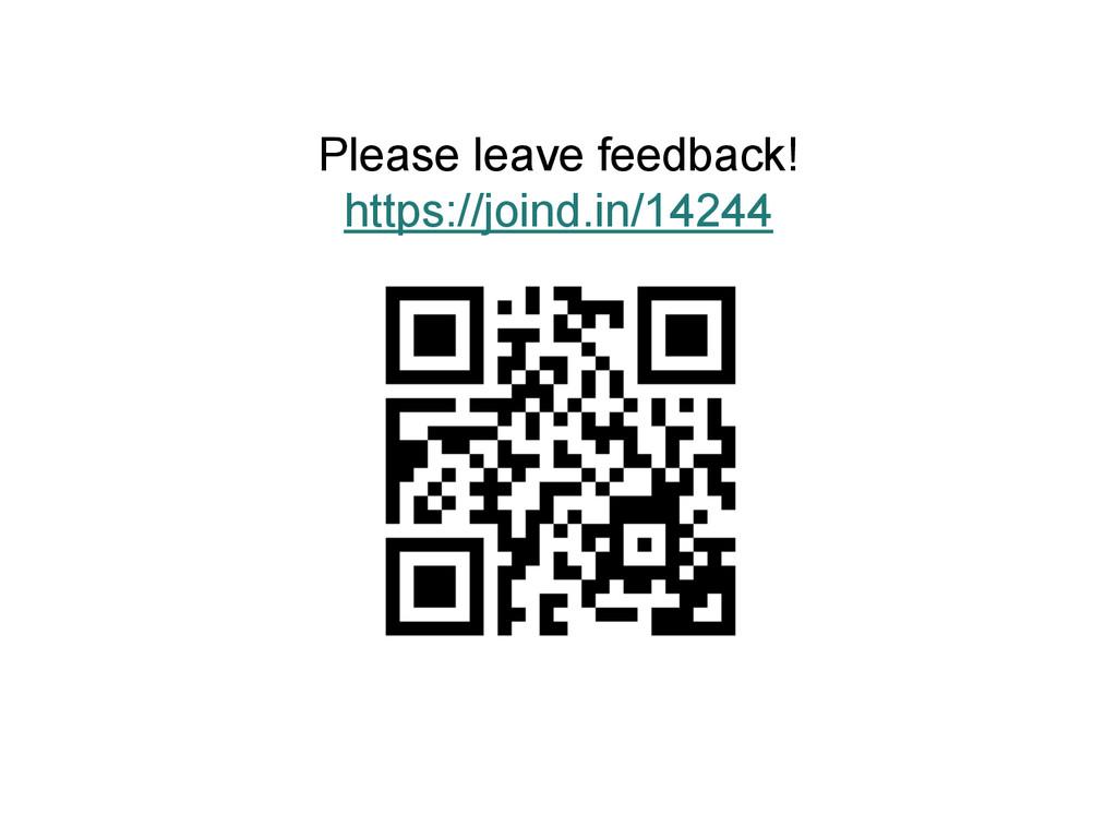 Please leave feedback! https://joind.in/14244