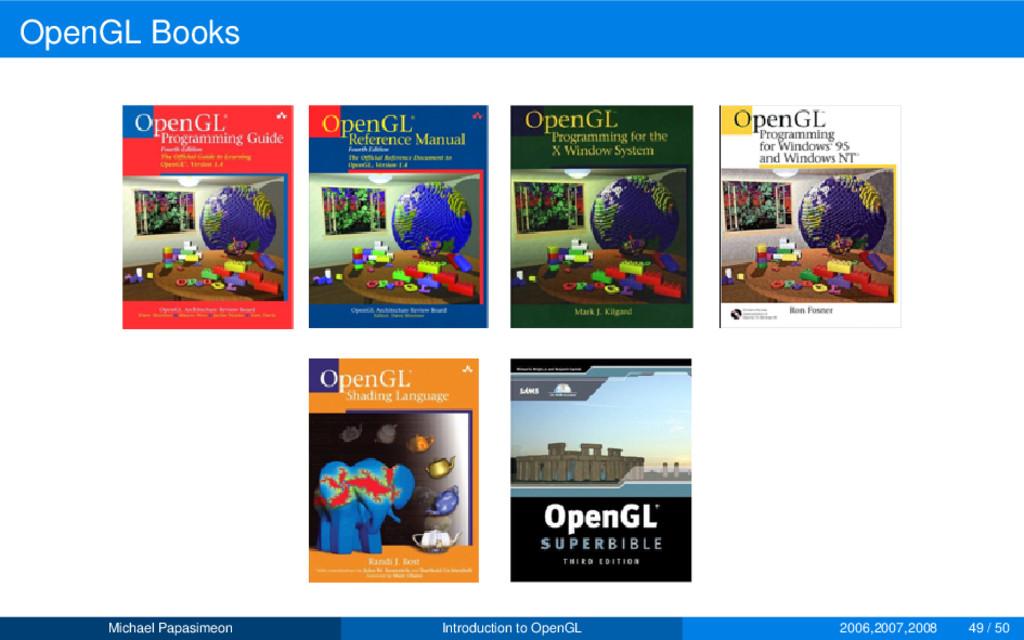 OpenGL Books Michael Papasimeon Introduction to...