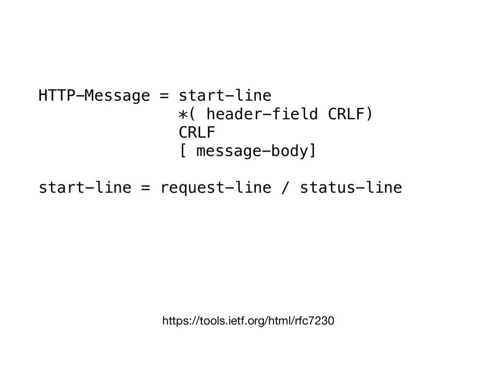https://tools.ietf.org/html/rfc7230 HTTP-Messag...