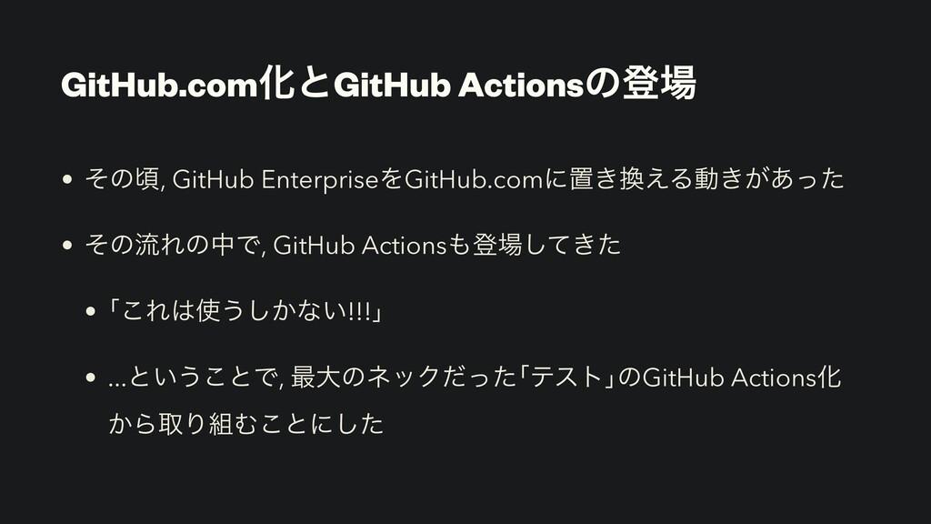 GitHub.comԽͱGitHub Actionsͷొ • ͦͷࠒ, GitHub Ent...