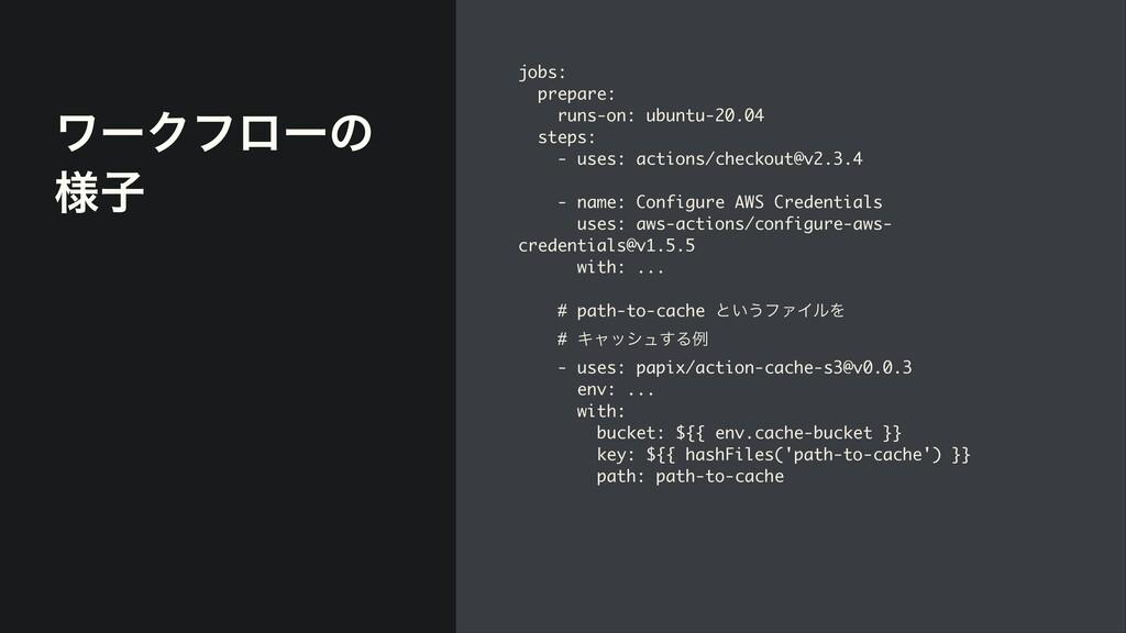 ϫʔΫϑϩʔͷ ༷ࢠ jobs :   prepare :   runs-on: ubuntu...