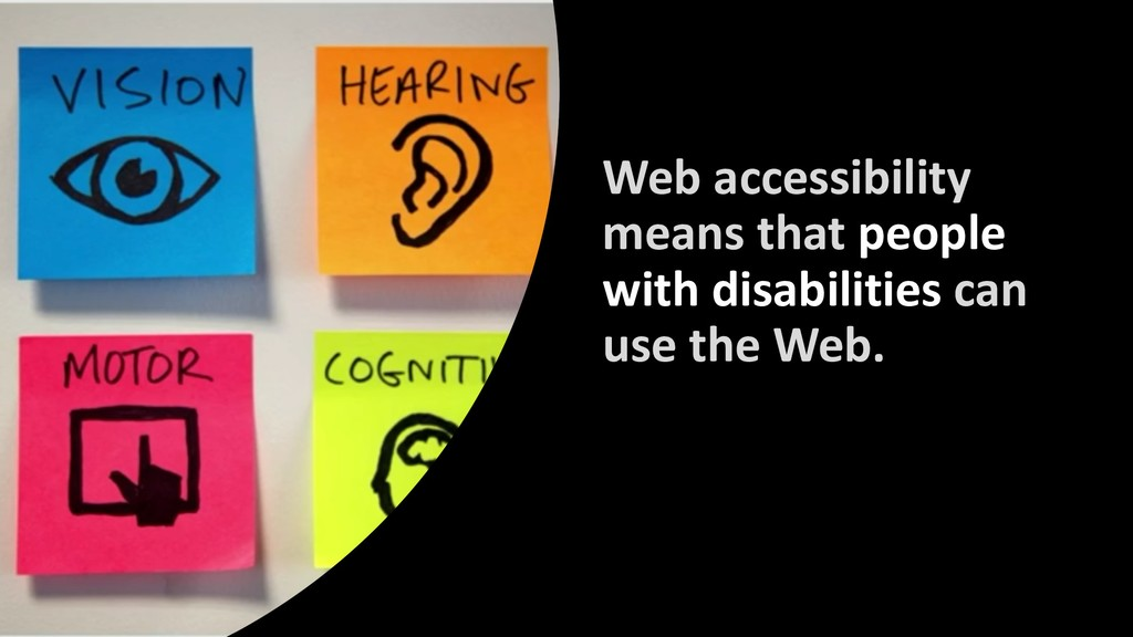 Web accessibility means that people with disabi...