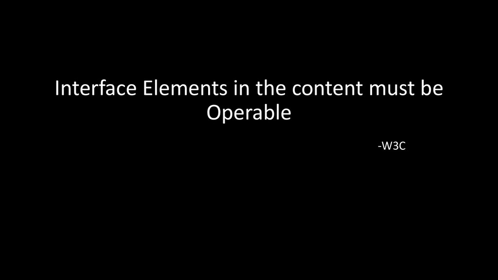 Interface Elements in the content must be Opera...