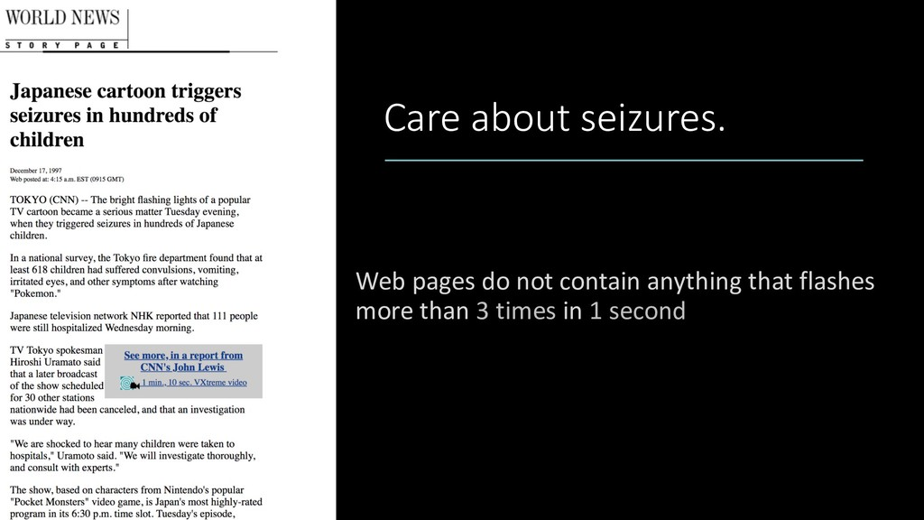 Care about seizures. Web pages do not contain a...