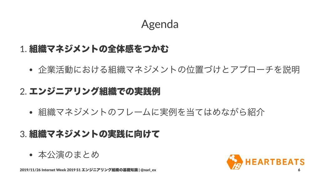 Agenda 1. ৫ϚωδϝϯτͷશମײΛ͔ͭΉ • اۀ׆ಈʹ͓͚Δ৫ϚωδϝϯτͷҐ...