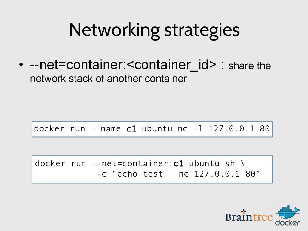 """docker run --net=container:c1 ubuntu sh \ -c """"e..."""