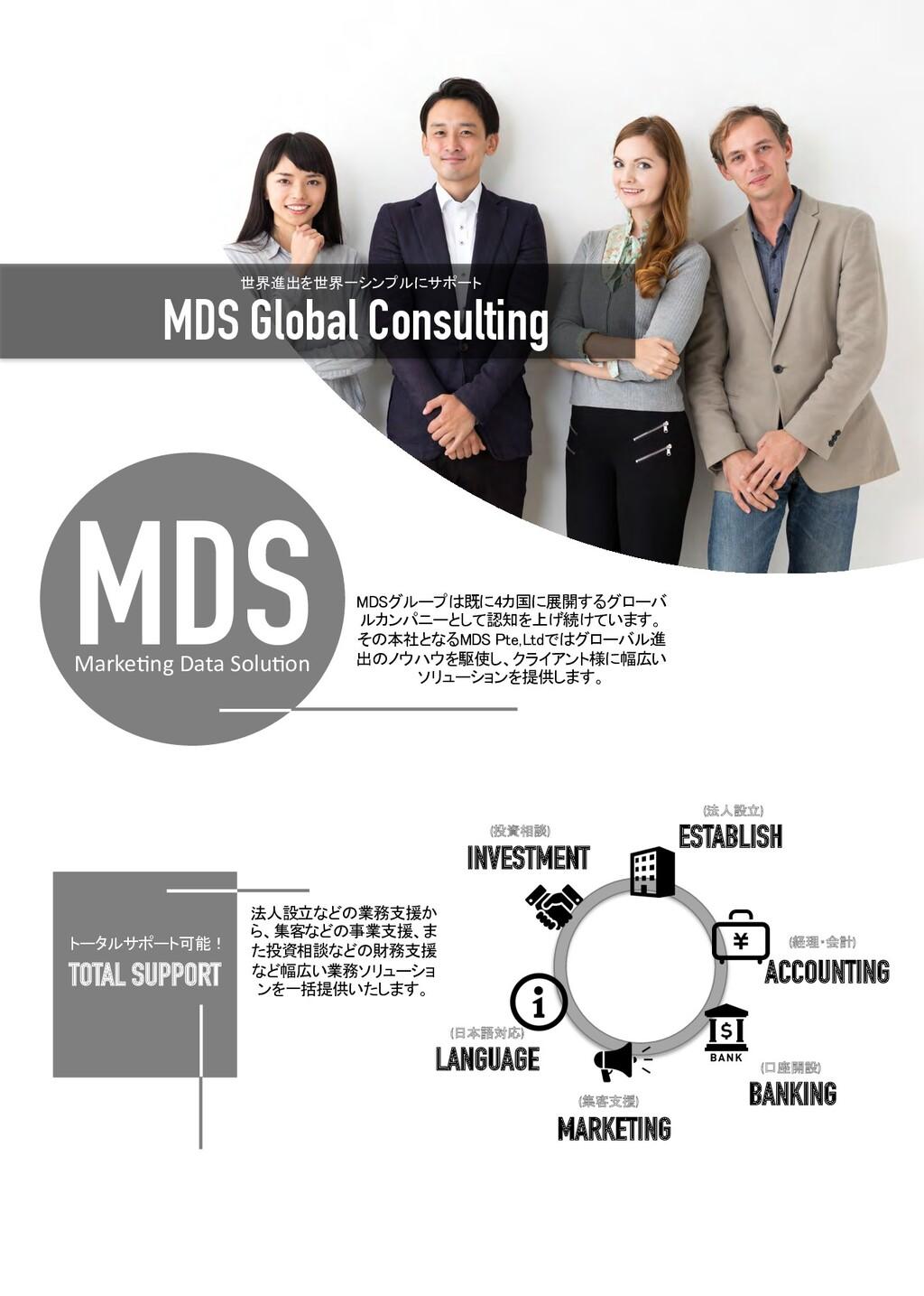 MDS Global Consulting 世界進出を世界一シンプルにサポート Marke7n...