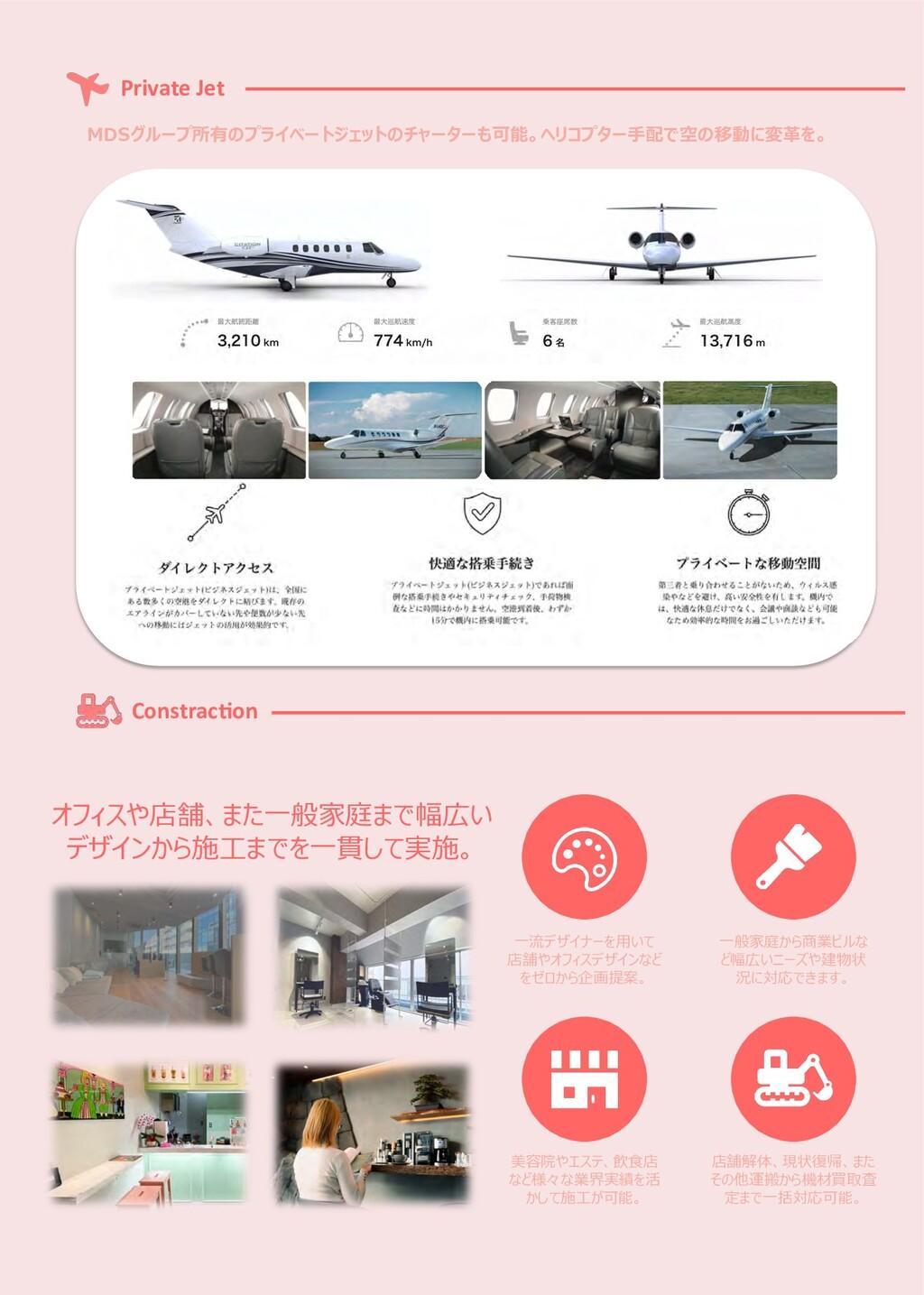 Private Jet Constrac<on MDSグループ所有のプライベートジェットのチャ...