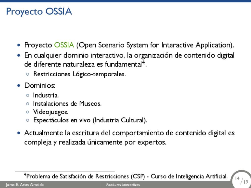 Proyecto OSSIA • Proyecto OSSIA (Open Scenario ...