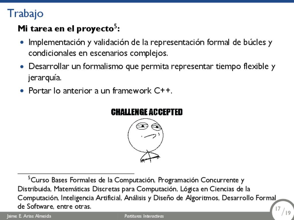 Trabajo Mi tarea en el proyecto5: • Implementac...