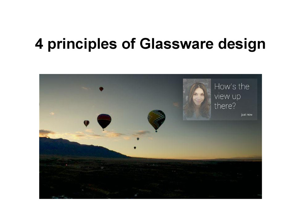 4 principles of Glassware design