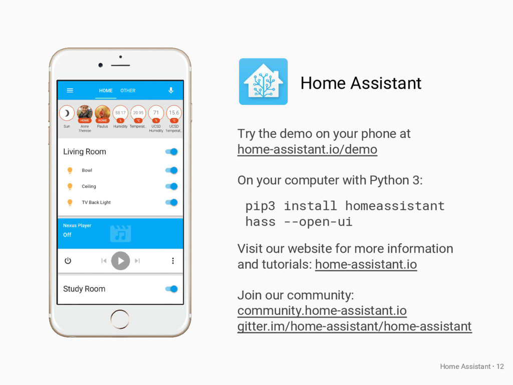 Try the demo on your phone at home-assistant.io...