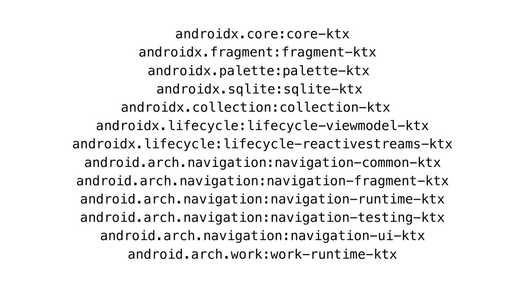 androidx.core:core-ktx androidx.fragment:fragme...