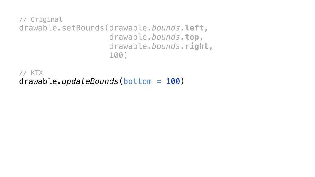 // Original drawable.setBounds(drawable.bounds....