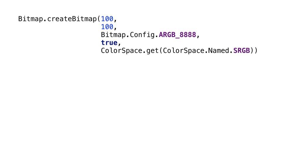Bitmap.createBitmap(100, 100, Bitmap.Config.ARG...