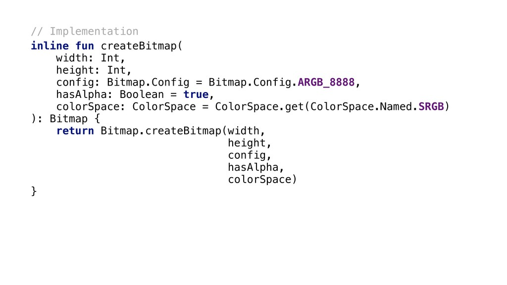 // Implementation inline fun createBitmap( widt...