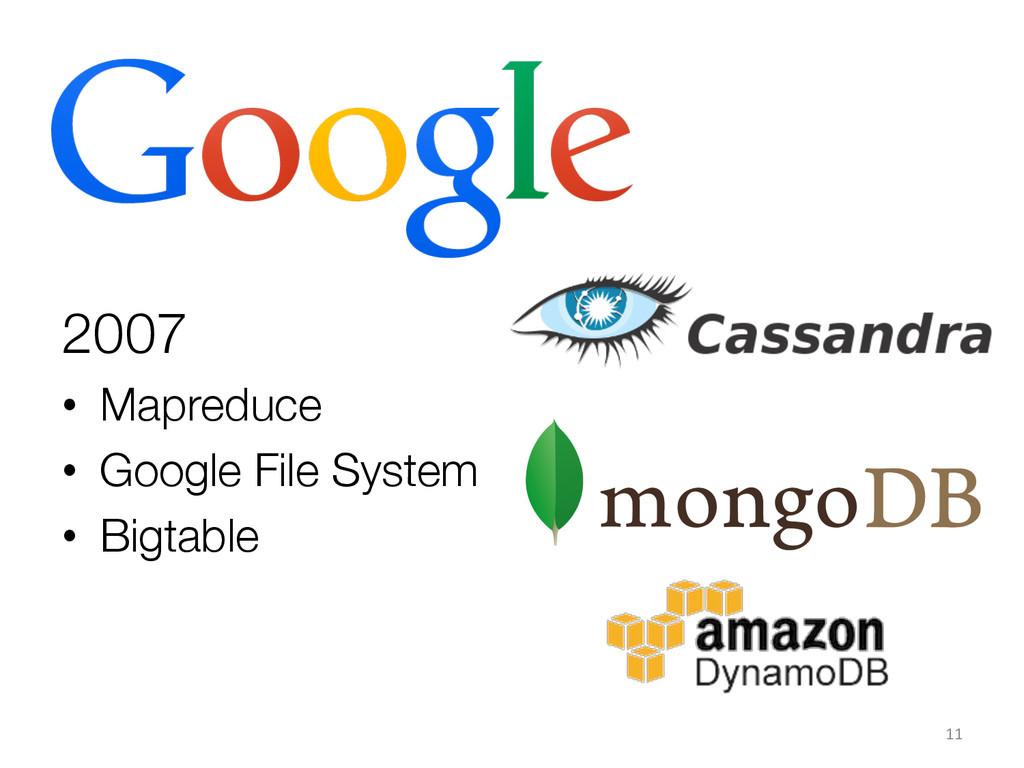 2007 • Mapreduce • Google File System • B...