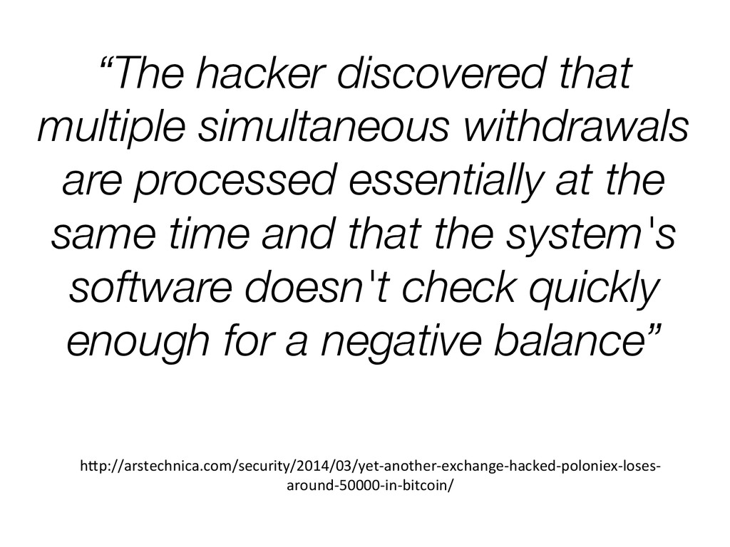 """""""The hacker discovered that multiple simultaneo..."""