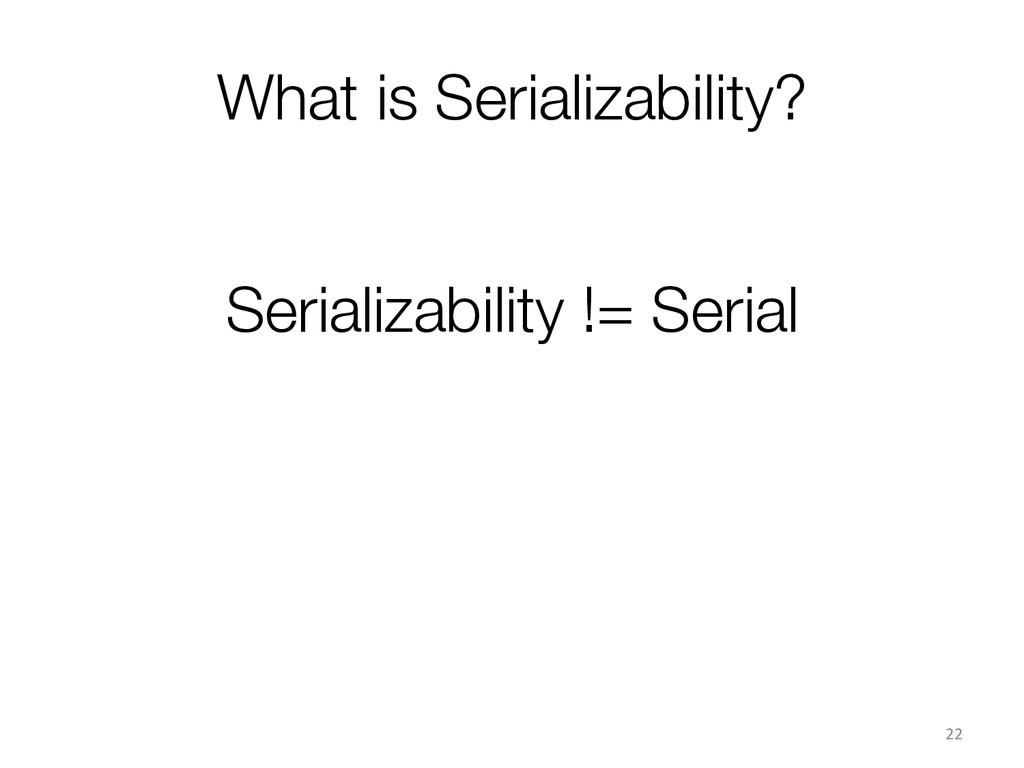 What is Serializability? 22  Serializabilit...