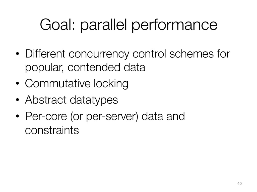 Goal: parallel performance  • Different concu...