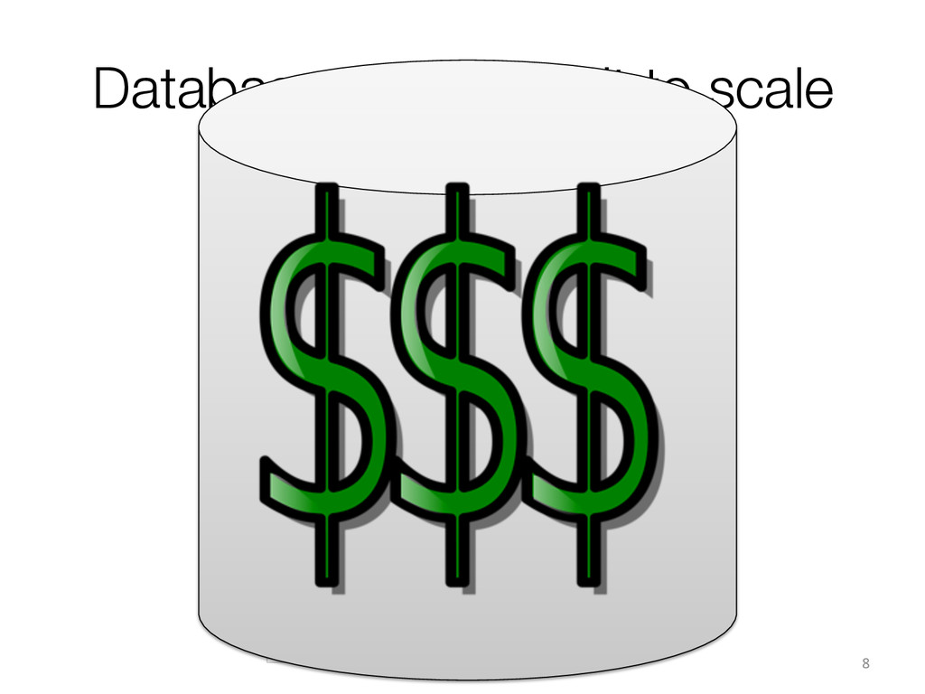Databases are difficult to scale 8  Applicat...