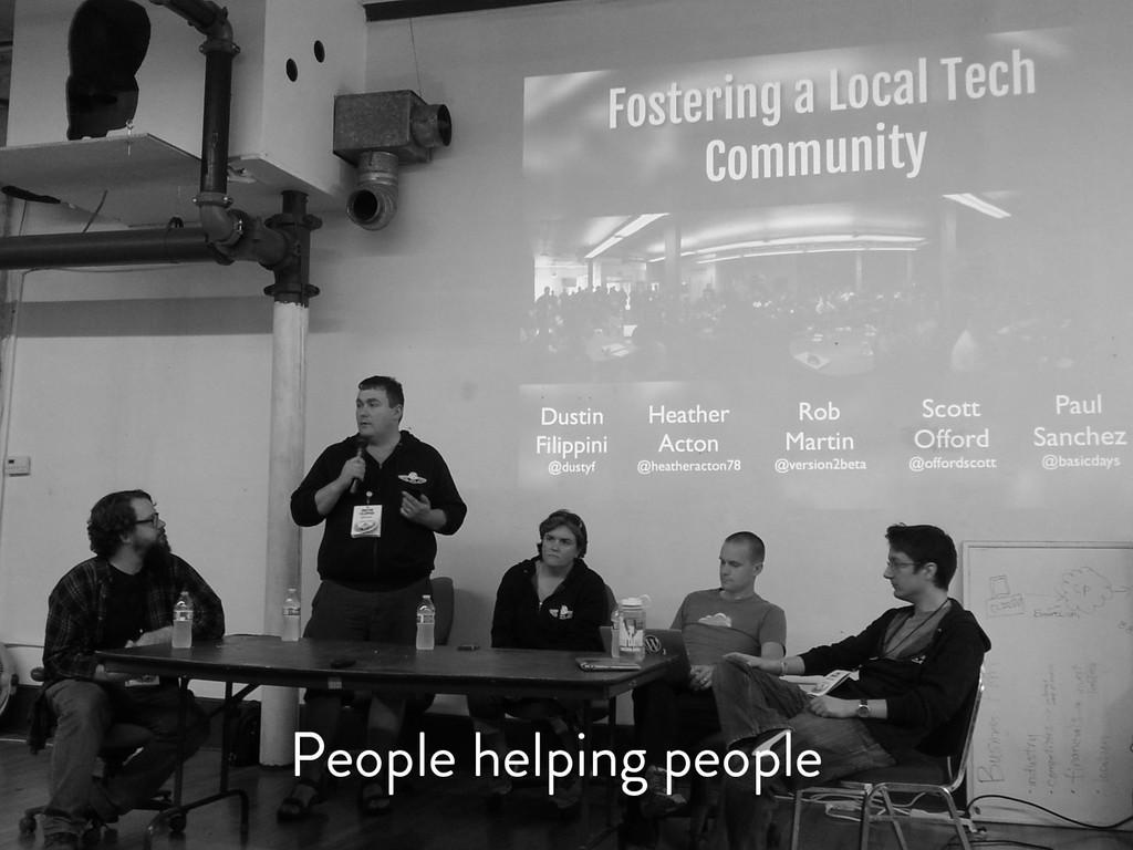 @marktimemedia People helping people
