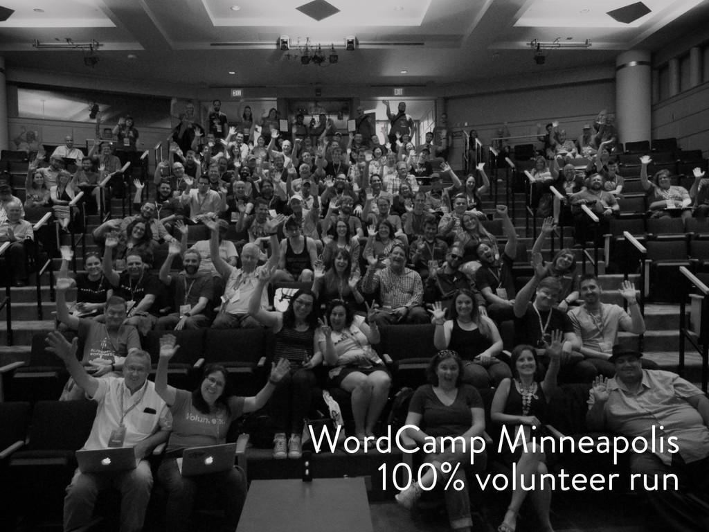 @marktimemedia WordCamp Minneapolis 100% volunt...