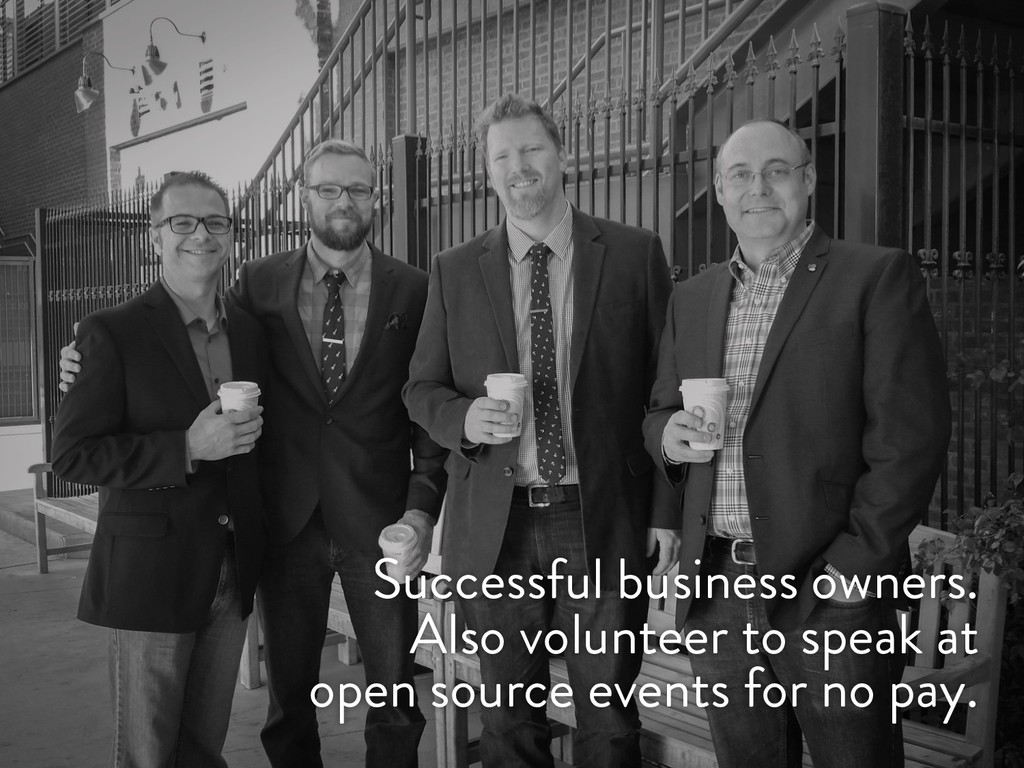 @marktimemedia Successful business owners. Also...