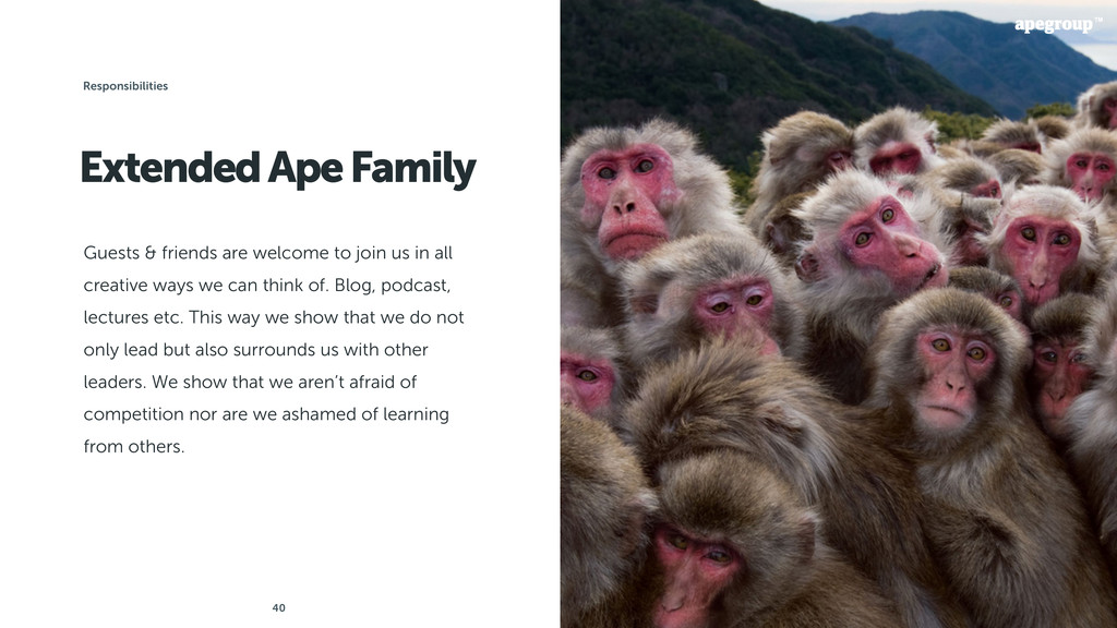 40 Extended Ape Family Guests & friends are wel...