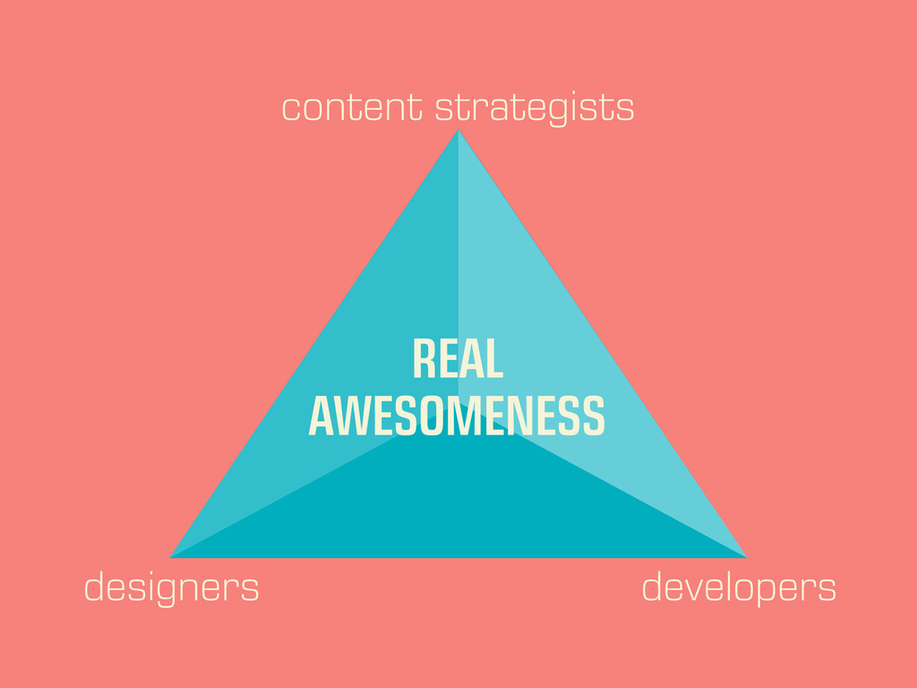 content strategists designers developers REAL A...