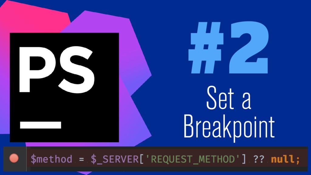 #2 Set a Breakpoint