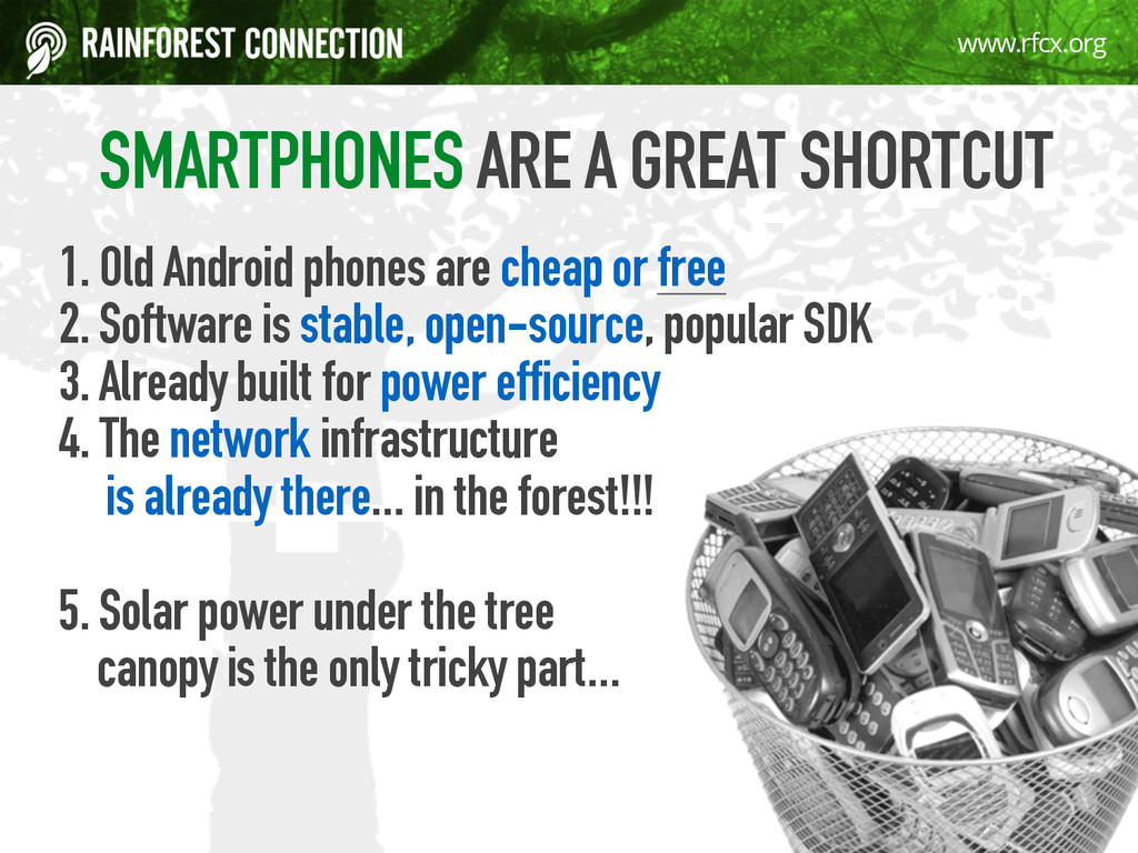 9 www.rfcx.org SMARTPHONES ARE A GREAT SHORTCUT...