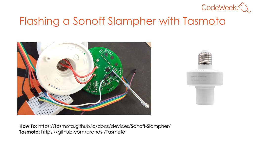 Flashing a Sonoff Slampher with Tasmota How To:...
