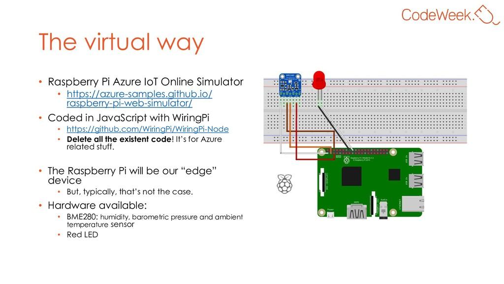The virtual way • Raspberry Pi Azure IoT Online...