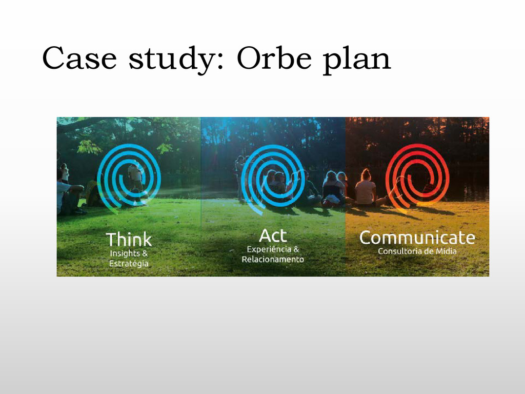 Case study: Orbe plan