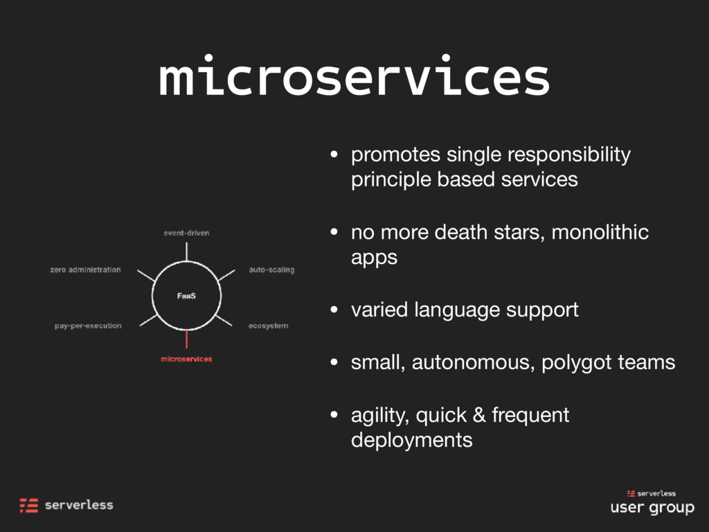 microservices • promotes single responsibility ...