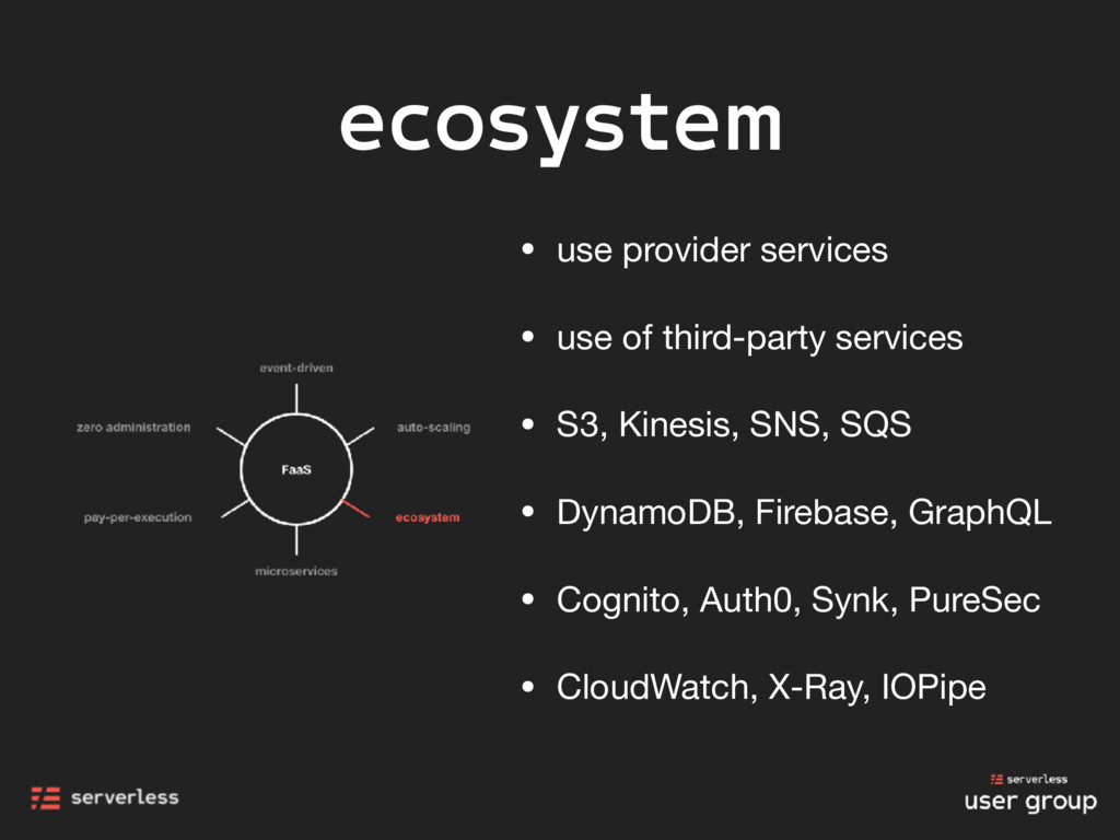 ecosystem • use provider services  • use of thi...